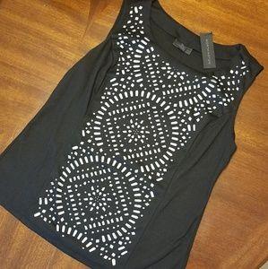 WORTHINGTON Women's Embellished Blouse, Size Large
